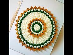 Crochet Flower Tutorial, Crochet Flower Patterns, Crochet Designs, Crochet Flowers, Crochet Lamp, Crochet Tablecloth, Crochet Crafts, Peacock Embroidery Designs, Hand Embroidery Art