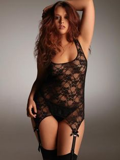 Shop sexy plus size lingerie and fall in love with exclusive styles only at Hips & Curves. From romantic to racy, buy plus size lingerie sizes L – Babydoll Lingerie, Sexy Lingerie, Hips And Curves, Stockings Lingerie, Lace Garter, Voluptuous Women, Plus Size Lingerie, Lingerie Collection, Sexy Women