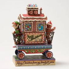 """Candy Cane Caboose"" 6th in Train Series - Jim Shore Annual Train Series 4025632 | ENESCO"