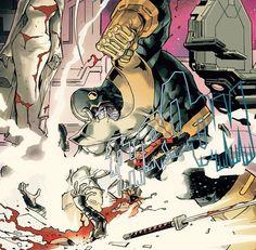 Thanos dandole una paliza a Deadpool