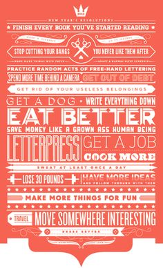 New Year's Resolutions by Teresa Wozniak, a talented designer based in Halifax, Canada.