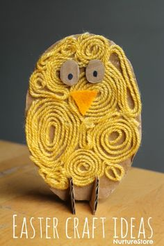 Easy Easter crafts for kids of all ages: cute chicks and lambs