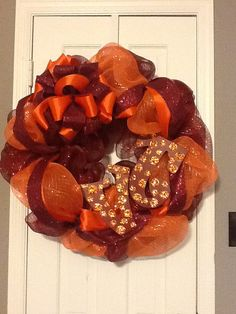Virginia Tech Wreath by SouthernThrills on Etsy, $48.00