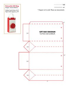 Holiday Cards and More v. 5 Patterns (Poinsettia Gift Bag)