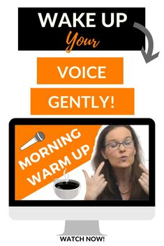 Gentle vocal warm up for your voice. 7 steps to a better voice. Vocal Warm Up Exercises, Singing Exercises, Vocal Warmups, Workout Warm Up, Singing Tips, Breathing Techniques, Types Of Music, Your Voice, Wake Up