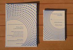 活版印刷 Wedding Invitation, RSVP package-ドット
