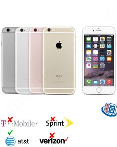 cell phones: Atandt Apple Iphone 6S A1633 16Gb 64Gb 128Gb Silver Space Gray Gold Gsm Smartphone BUY IT NOW ONLY: $318.99