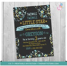 Twinkle Twinkle Little Star Invitation: Printable by thepartystork