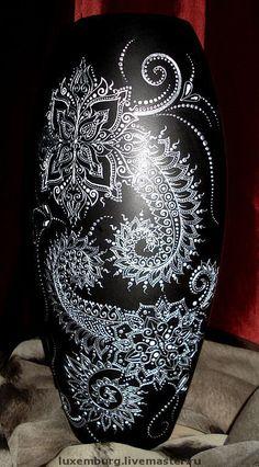 Вазы ручной работы. Ярмарка Мастеров - ручная работа. Купить керамическая ваза ручной работы. Handmade. Ваза для цветов, черный