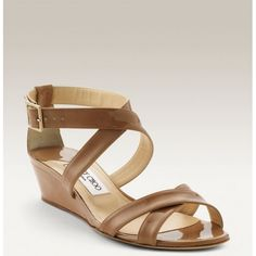 Jimmy Choo Connor Wedges Sandal Nude