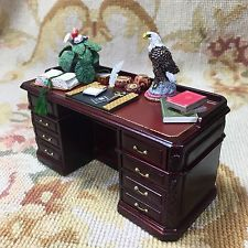 Bespaq/Pat Tyler Dollhouse Miniature Writing Desk Secretary Dressed Z