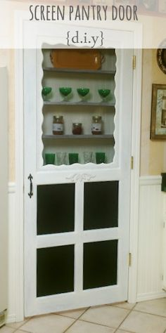 DIY Screen Pantry Door {your pick}...cute for our utility room closet.