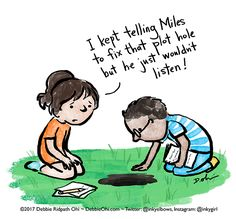 Comic: The Plot Hole - Inkygirl: Guide For Kidlit/YA Writers & Artists - via @inkyelbows