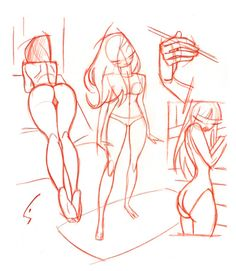 I find sketches like that pretty useful... Naked character's anatomy is  more interesting to draw , especially curvy girls :)  I'M NOT A PERV , NEITHER A LESBIAN!! :O