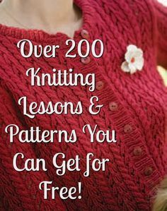 Knitted Yarn Patterns and Knitting Tutorials - Free Ebooks - Ideas of Free Ebooks - Over 200 Free Knitting Patterns & Projects You Have to Try Knitting Daily www. Beginner Knitting Patterns, Knitting Daily, Knitting Help, Vogue Knitting, Easy Knitting Projects, Loom Knitting, Knitting Stitches, Knitting Tutorials, Knit Patterns