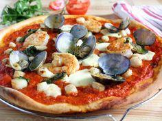 Pizza aux fruits de mer #pizza #qooq