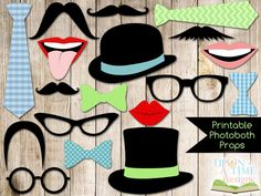 Photobooth Props PRINTABLE  Moustache Lips by UponATimeDesigns, $3.00
