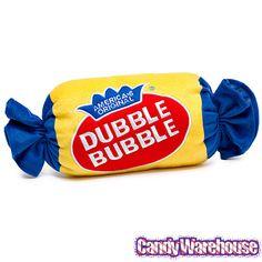 Small Plush Dubble Bubble Candy Pillow