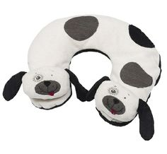 Black and Cream Dog Travel Pillow