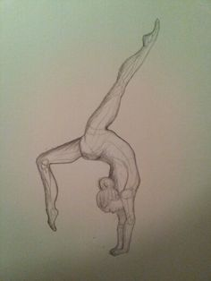 """Front Walkover""  Pencil drawing  Rosemary Ochtman"