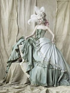 Marie Antoinette inspiration. I want my future wedding dress to be identical ;P