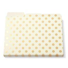 Kate Spade Gold Foil Dots File Folders set of 6 kate spad... https://www.amazon.ca/dp/B00K74H2LY/ref=cm_sw_r_pi_dp_o7TJxb1KTVETQ