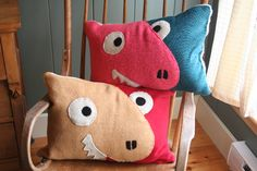Dinosaur Duo Pillows