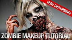 Zombie Makeup Tutorial: using latex + kleenex + a blow dryer + a broken plastic spoon + makeup + imagination  TUTORIAL: https://www.youtube.com/watch?v=CN8899eqays
