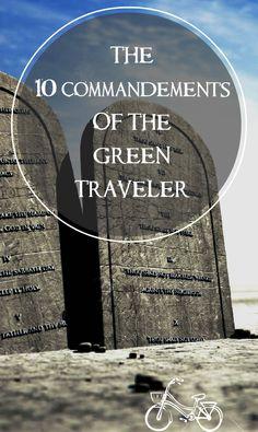 10 commandments green travel responsible travel ecotourism sustainable tourism