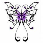 Read more: Purple butterfly tattoo