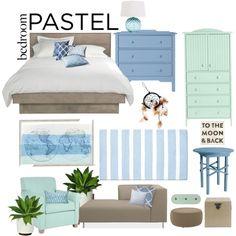 A Sweet Pastel Bedroom Pastel Bedroom, Interior Decorating, Interior Design, Hudson Jeans, Interiors, Sweet, Polyvore, Furniture, Home Decor