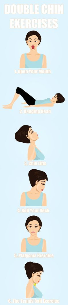 How to get rid of double chin (6 easy exercises)