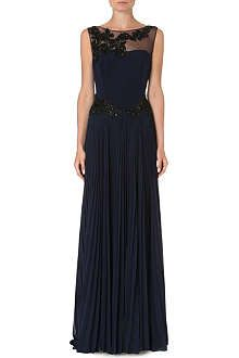 NOTTE BY MARCHESA Pleated-skirt embellished gown