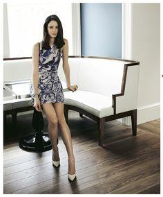 'Skins' star Kaya Scodelario wears the SS13 marble mini.