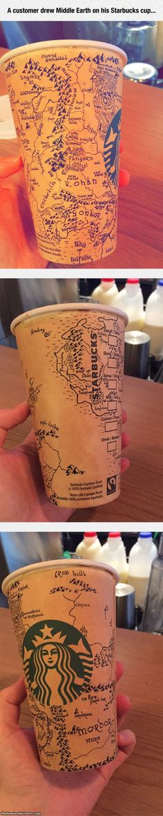Incredible Drawing On A Starbuck's Cup