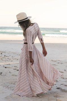 Island Boho Gown - Coral