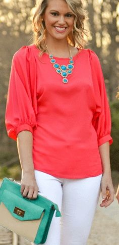 Coral & turquoise, bring some color back!