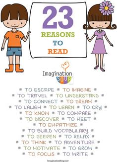 """free printable poster - """"23 Reasons to Read"""""""