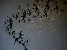 Swallows at night