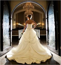 .White and Gold Wedding. Sweetheart Corset Ballgown Dress.
