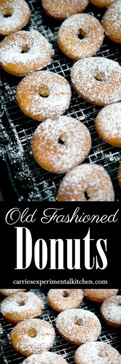 Make your own old fashioned, bakery style donuts at home with readily available pantry ingredients. #donuts #dessert #breakfast #vegetarian