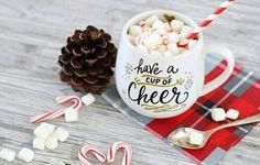 Christmas. Winter. New Year. Hot Chocolate. Marshmallows.