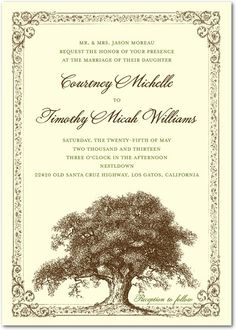Inspired by rustic weddings and outdoor reception venues, this wedding invitation is perfect for the DIY and natural bride. Find more wedding invitations and save the dates at www.WeddingPaperDivas.com