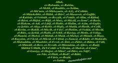 #islam #islamtt #engüzel99isim #hadis #engüzelisimler  En Güzel 99 İsim   ik http://www.inanankalpler.net/475/en-guzel-99-isim/