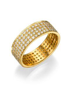 New to shireeodiz on Etsy: 14K Yellow Gold Full Eternity Band 4 Rows White Diamonds Wedding Ring Anniversary Band Sizable Valentines Days (1940.00 USD)