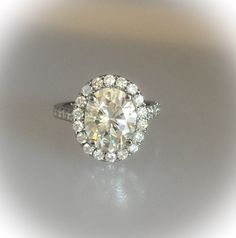 Morganite Ring, Moissanite Diamonds, Halo Rings, Diamond Rings, Forever Brilliant Moissanite, Celebrity Jewelry, Halo Diamond Engagement Ring, Anniversary Rings, Heart Ring