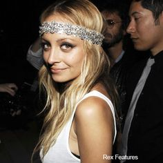 Not a Nicole Richie fan, but I love this look with the jeweled headband!