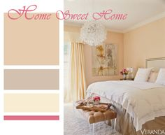 peach white pink classic beautiful bedroom jennifer lopez jlo Peach Rooms, Peach Bedroom, Dream Bedroom, White Bedroom, Master Bedroom, Bedroom Colors, Bedroom Decor, House Color Palettes, Beautiful Bedrooms