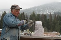 Progressive steps on sculpting in Stone.