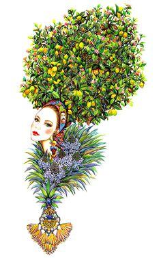 Items similar to Dolce & Gabbana Girl-Floral Fashion Portrait on Etsy Illustration Mode, Watercolor Illustration, Illustration Artists, Floral Illustrations, Fashion Illustrations, Fashion Artwork, Floral Fashion, Art Store, Fashion Sketches